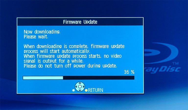 Panasonic DMP-BD60 Blu-ray Disc Player - Firmware Download Status