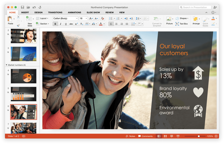 Create beautiful picture from your PowerPoint presentation in a few easy clicks.