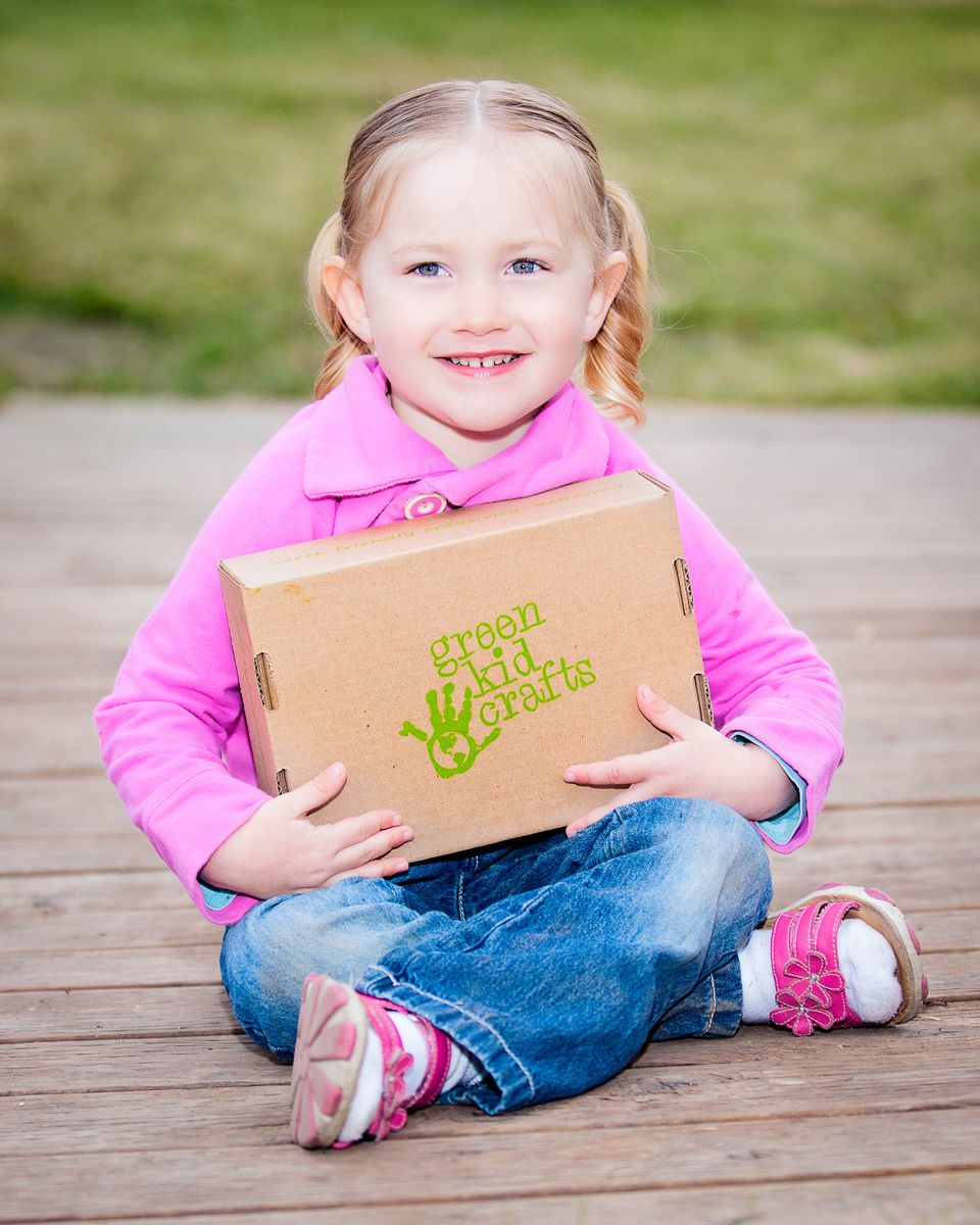A monthly box from Green Kids Crafts.