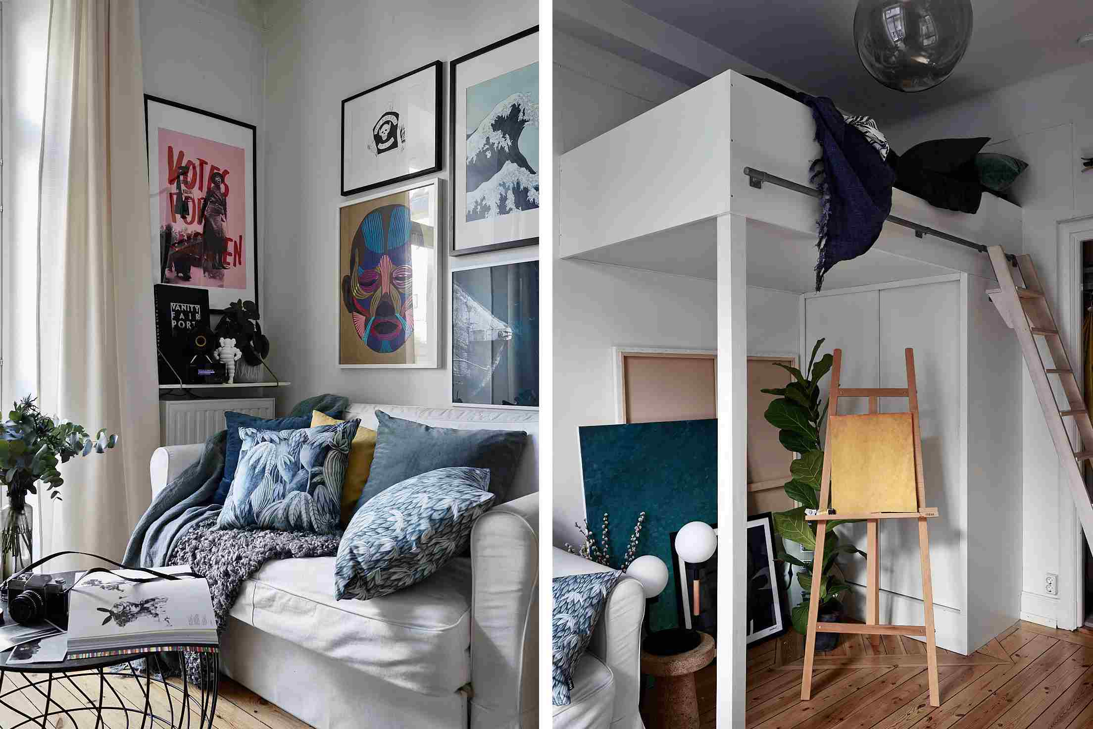 studio apartment loft bed.  25 Adult Loft Bed Ideas for Small Rooms and Apartments