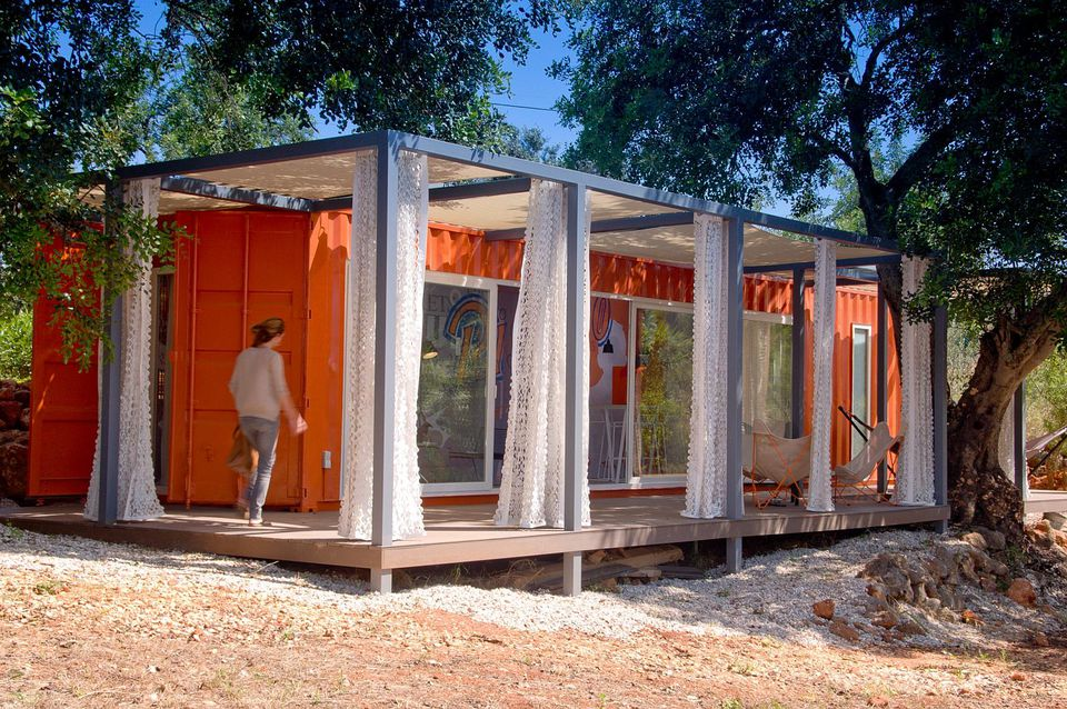 A Shipping Container Becomes A Beach Retreat