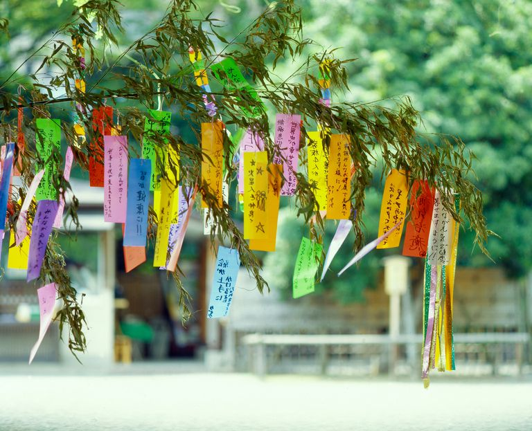 Tanabata festival tree decorations