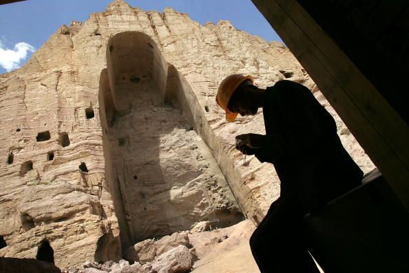 Workers Attempt To Restore Buddhas Of Bamiyan