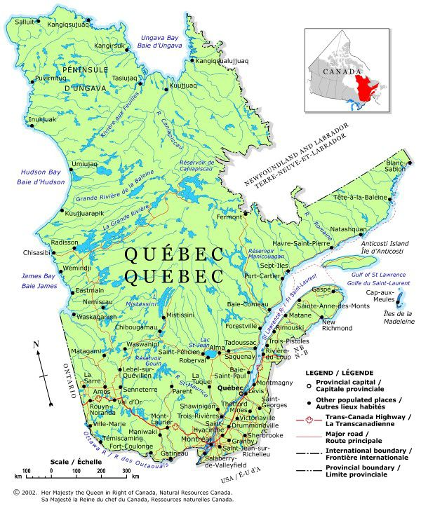 Plan Your Trip With These Maps Of Canada - Quebec us border map