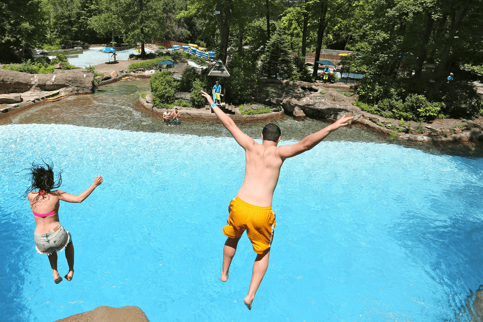 Free falling at Action Park in Vernon