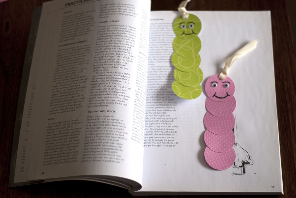 paper worm bookmarks