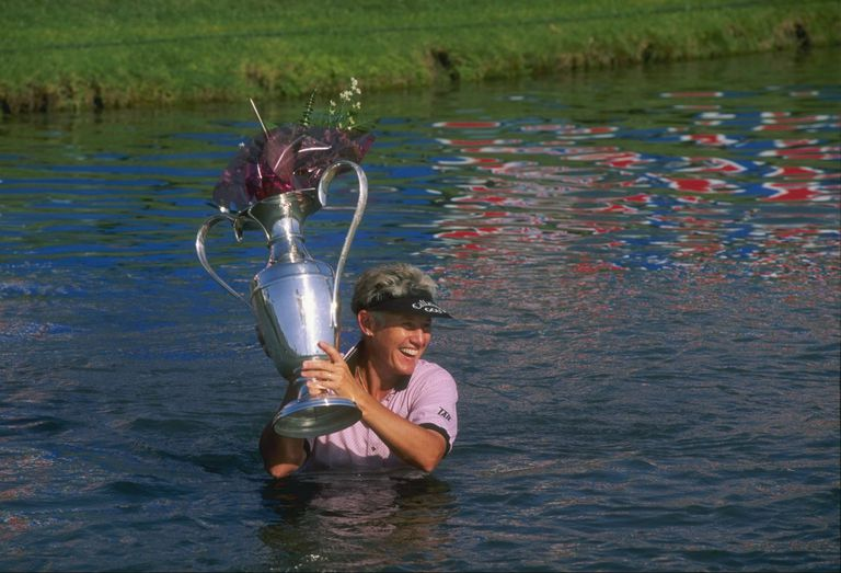 Patty Sheehan in 1996 after winning Nabisco