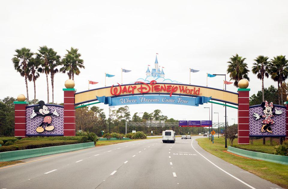 South entrance of Disney World in Orlando Florida