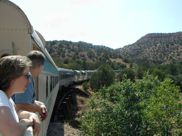 On the Verde Valley Railroad