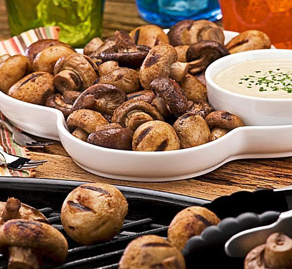 Grilled Marinated Mushrooms