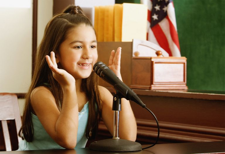Child on the witness stand.