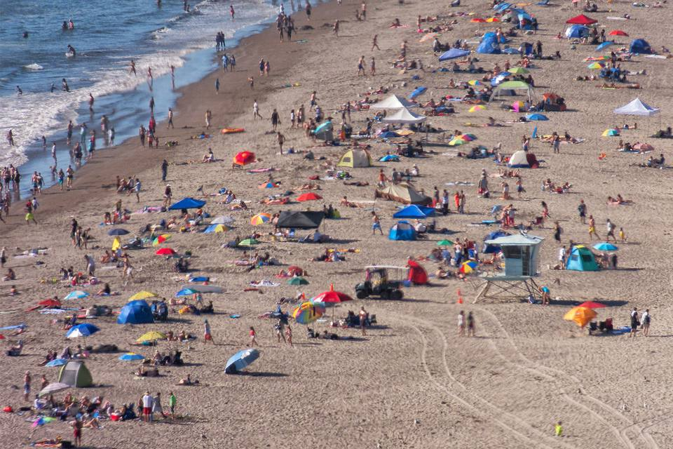 Busy Day on Stinson Beach