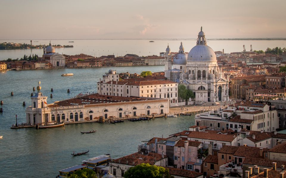 Cityscape of Venice with Santa Maria della Salute church, Veneto, Italy