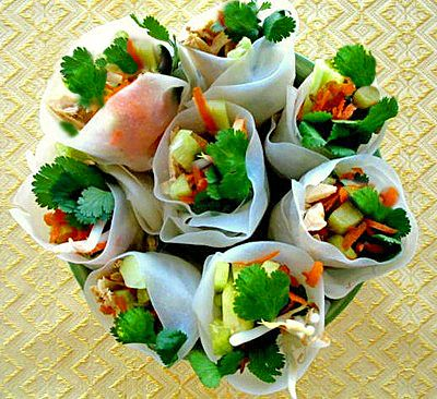 Thai Fresh Rolls - a bouquet!