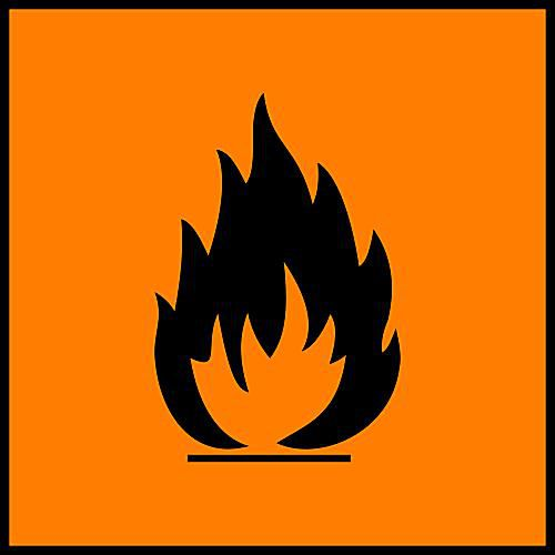 This is the hazard symbol for flammable substances.