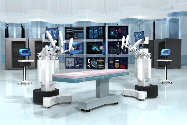 robotic surgeons with screens