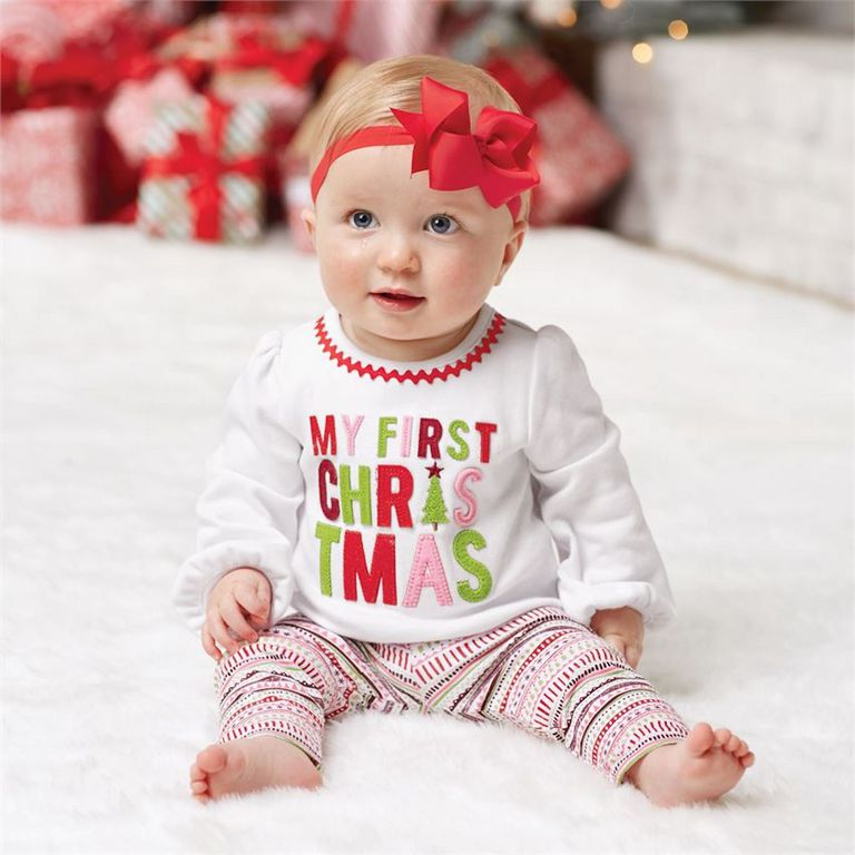 mud pie my first christmas sentiment two piece set