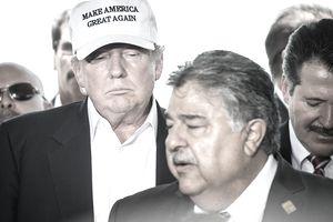 Donald Trump near Mexico