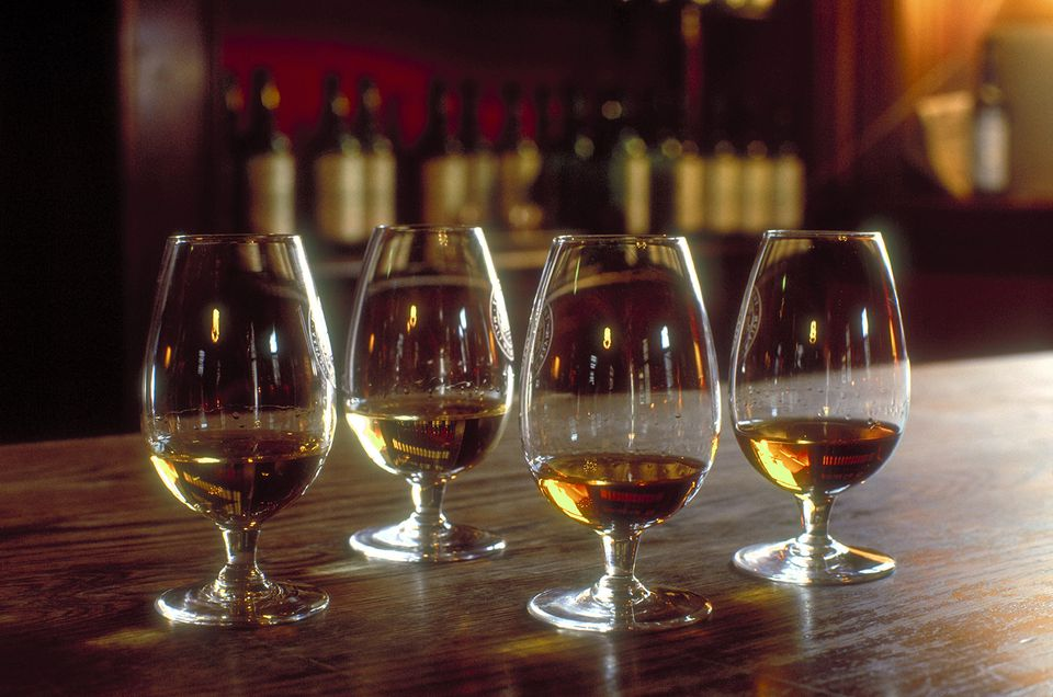 Whisky tasting by the THS Scotch malt whisky society in Leith, Edinburgh, Lothian, Scotland.