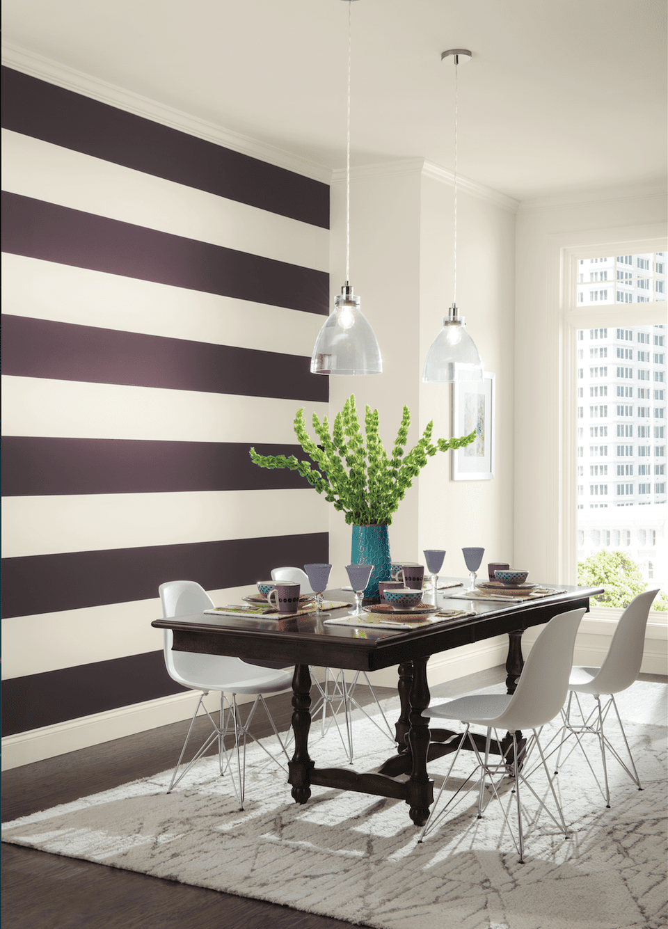 Interior house painting colors - Paint Color Stripe Ideas Sherwin Williams Color Trends
