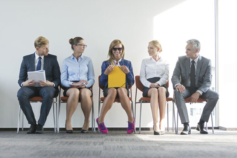 candidates waiting for job interview