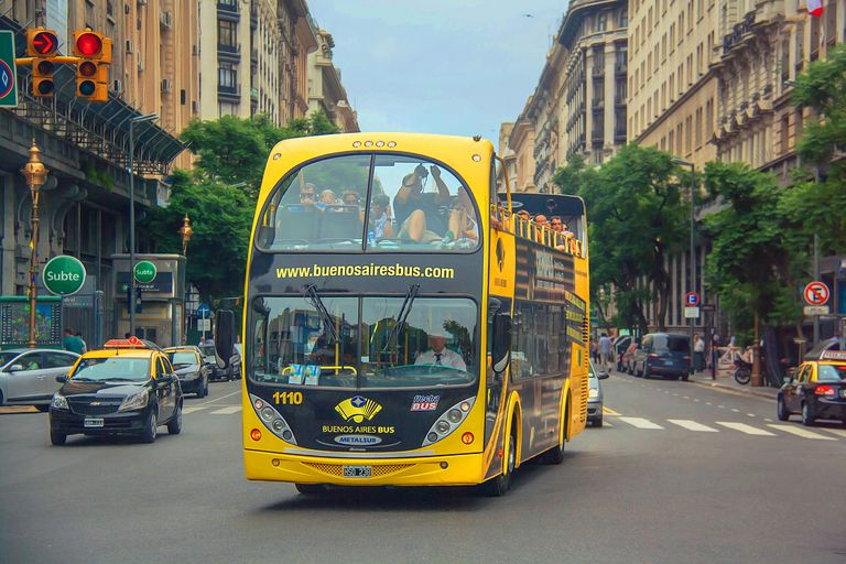 Tourist bus in Buenos Aires.