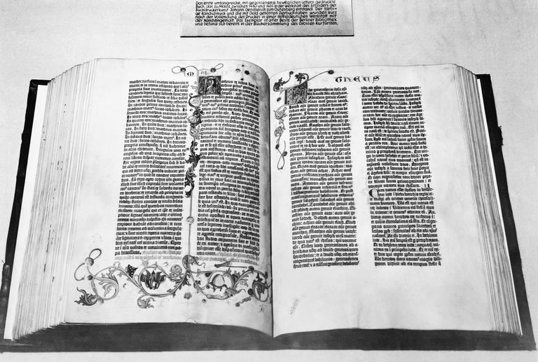 Gutenberg Bible Open to Beginning of New Testament
