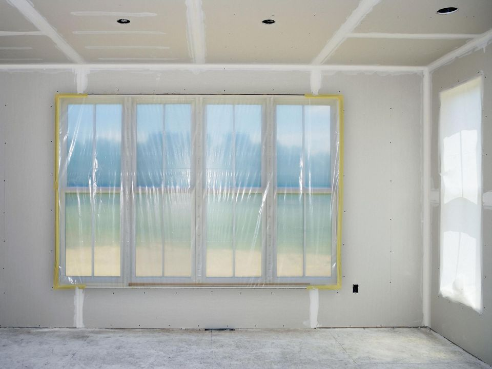 Drywalled room in home