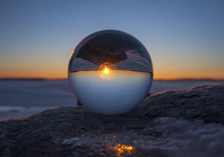 spherical sunset