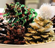 Simple Glitter Pine Cone Ornament