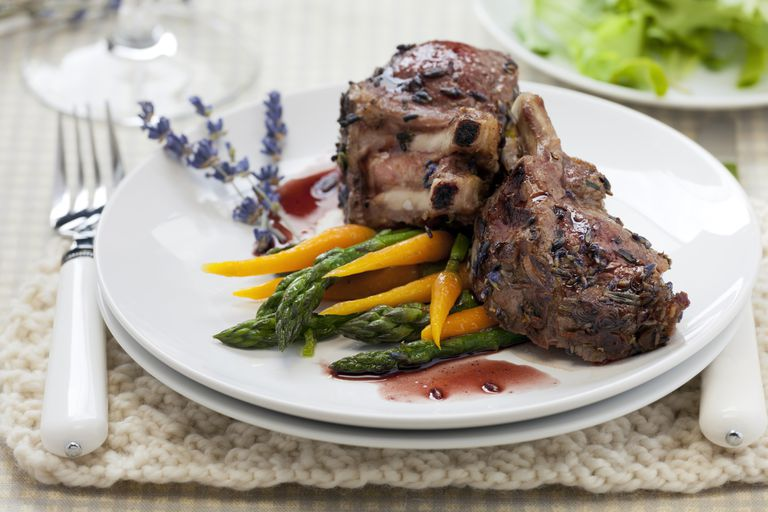 Rack of Lamb and Vegetables
