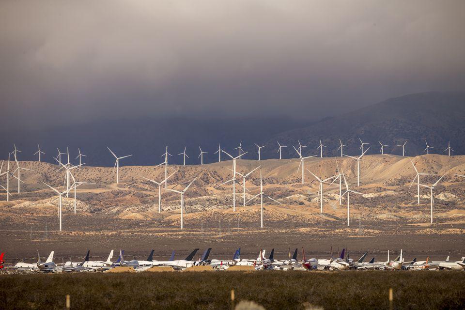 Mojave Air & Space Port under Fog