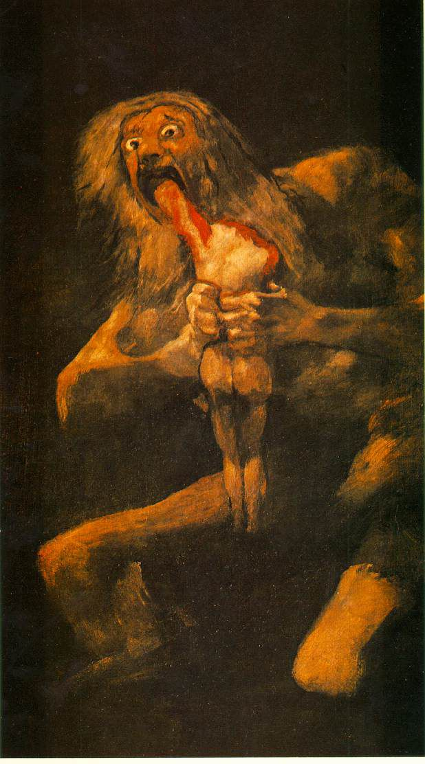 Saturn Devouring His Son, by Goya