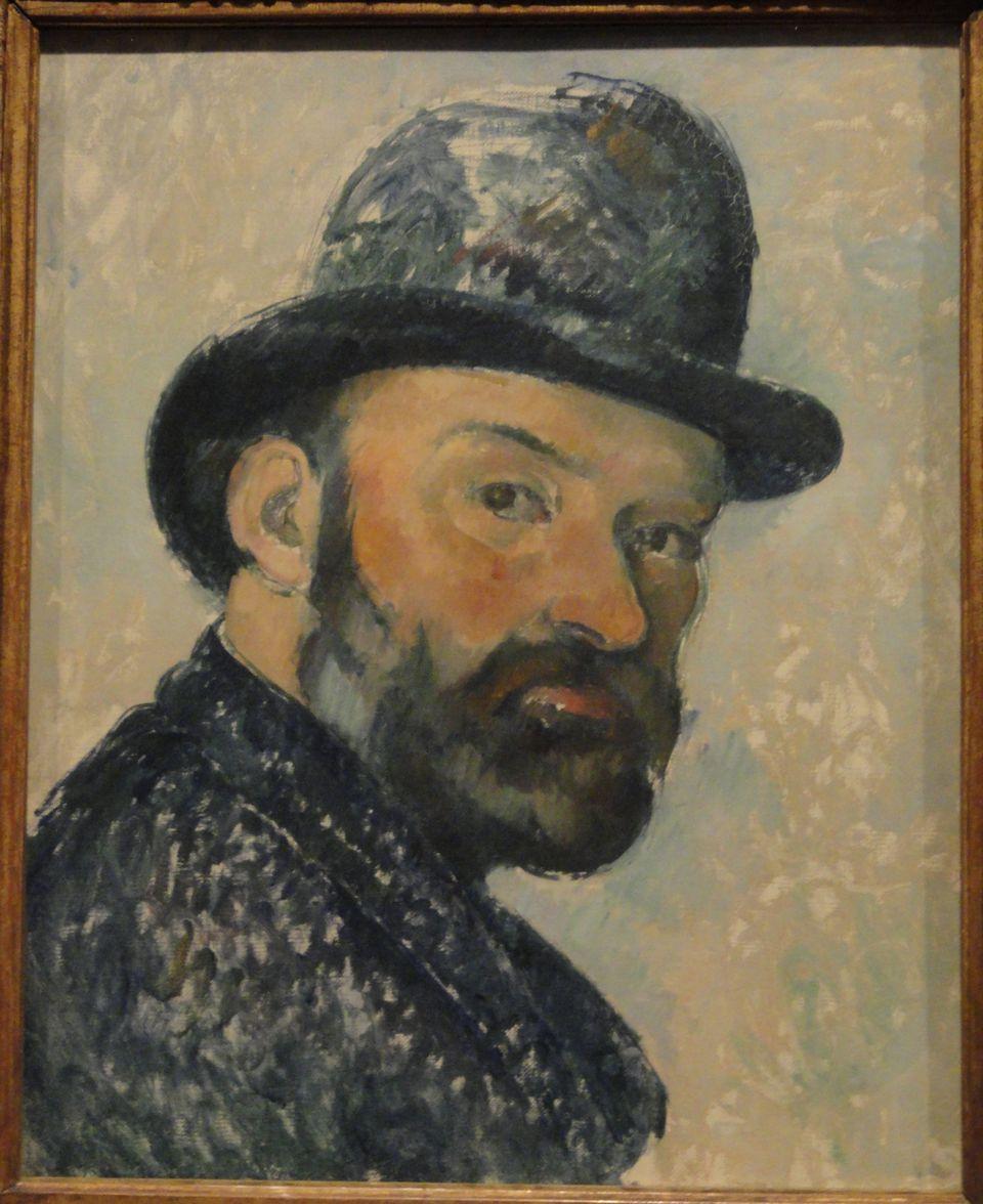 """Paul Cezanne, """"Self-Portrait in a Bowler Hat"""", 1883-1887. Oil on canvas,"""