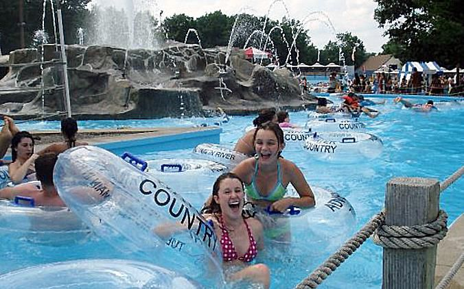 The Adventure River at Water Country water park in Portsmouth, New Hampshire.