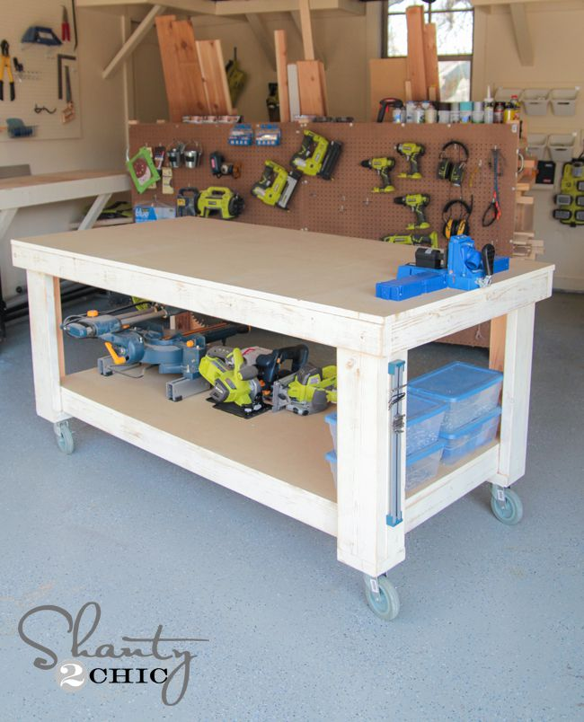 free workbench plan from shanty 2 chic - Workbench Design Ideas