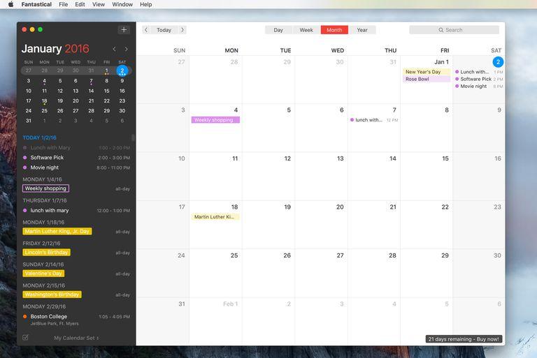 Fantastical 2 calendar app