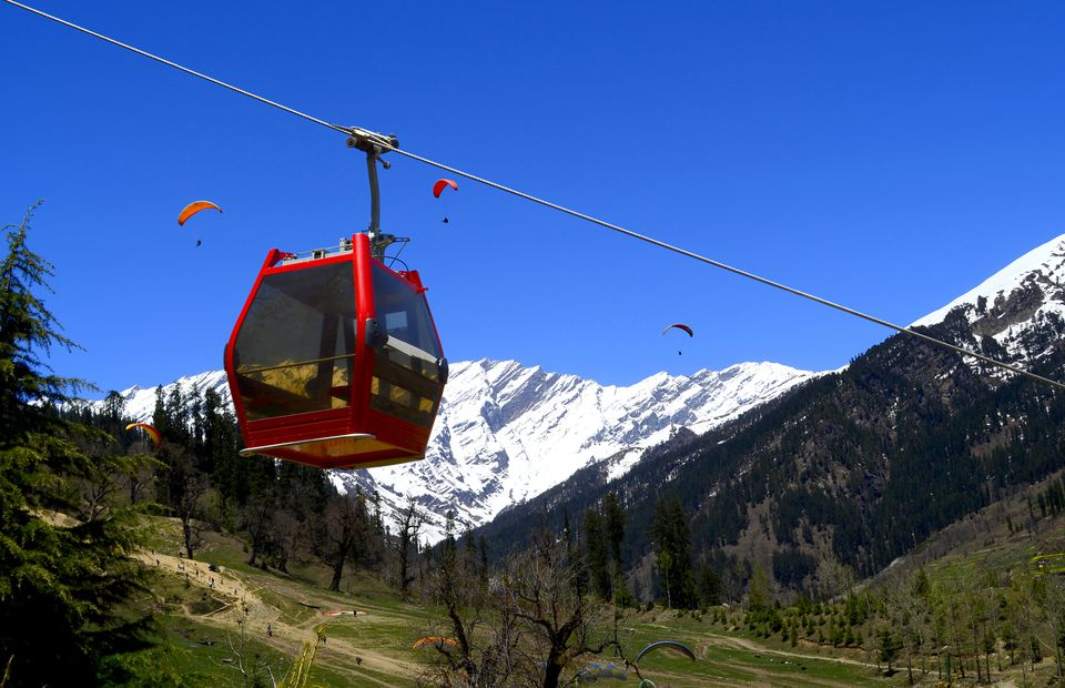 Solang Valley cable car.