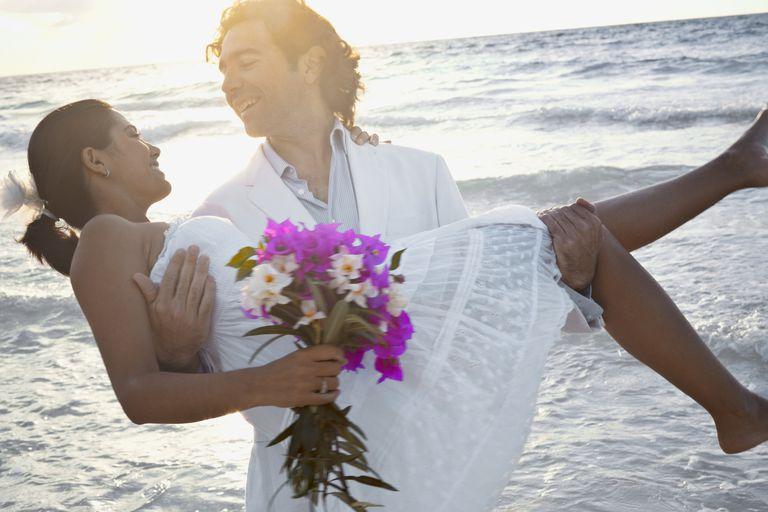 Bridal couple near Tulum, Mexico