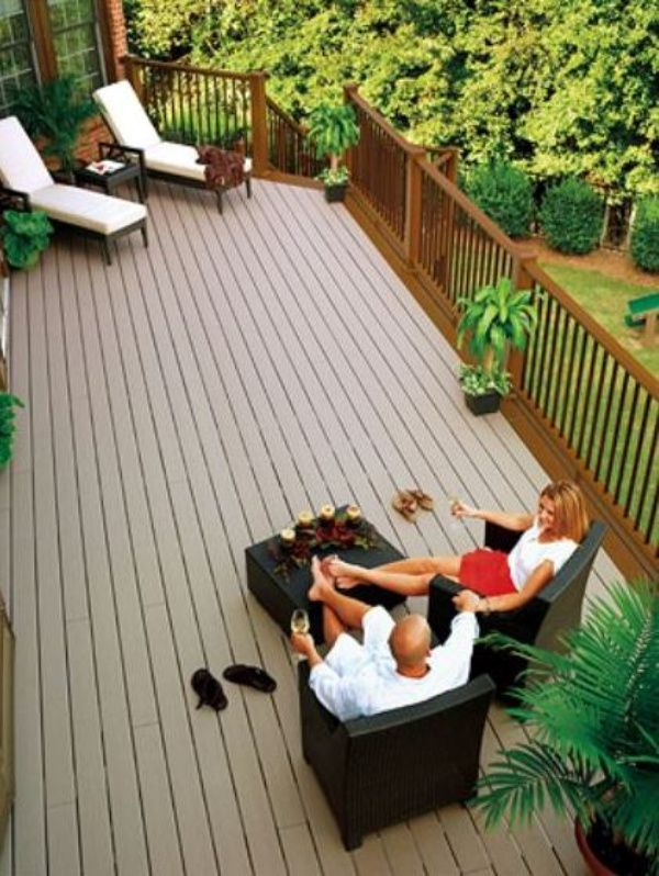 Garden Furniture Made From Decking wood and composite decking: pros and cons