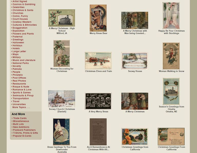 The best christmas e card sites vintage postcards spiritdancerdesigns Images