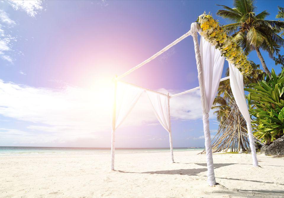 Wedding Tent At Beach