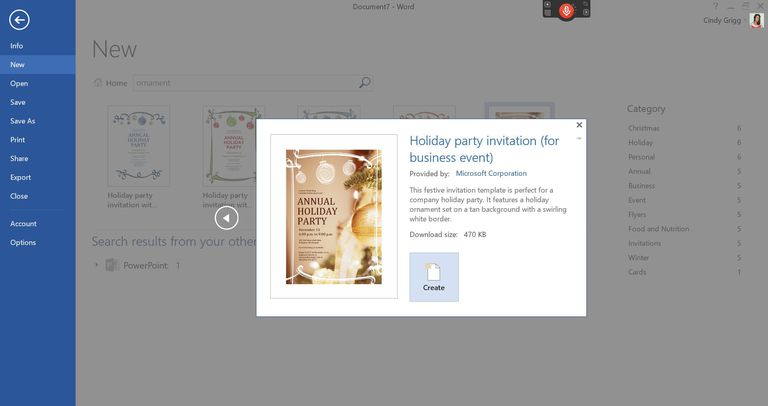 Microsofts Best Free DIY Christmas Templates – Annual Holiday Party Invitation Template