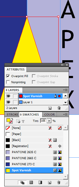 Specifying Spot Varnish in InDesign