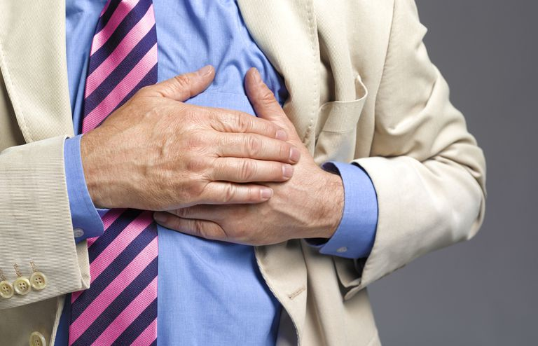 Senior man chest pain