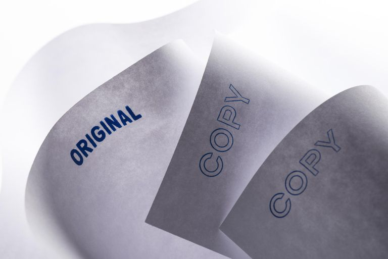 Sheets of office paper