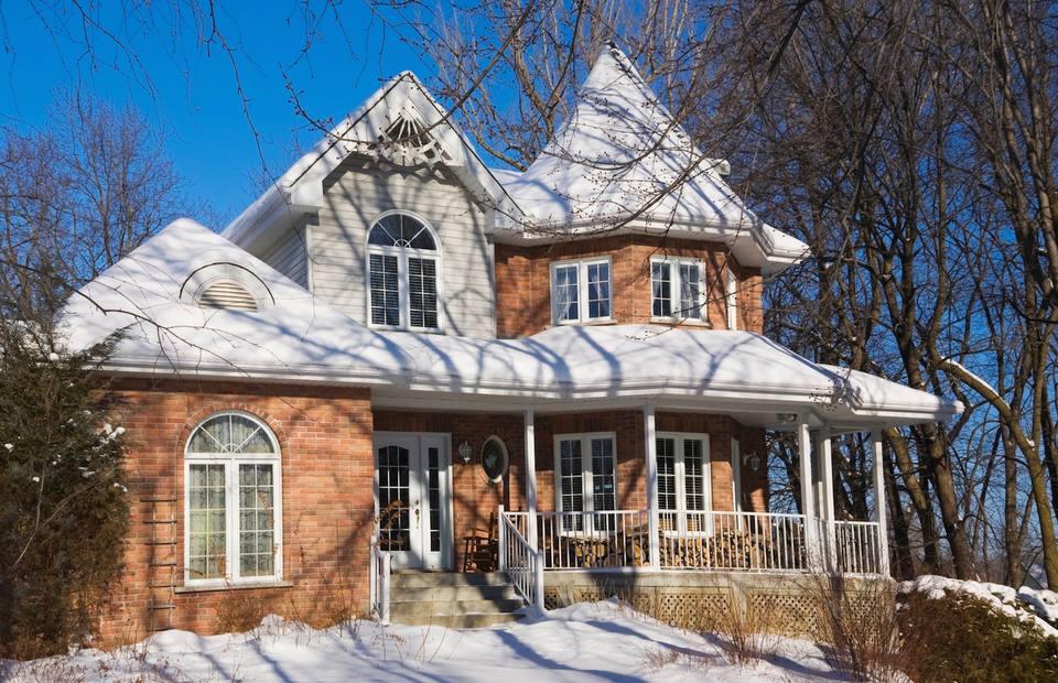 Winter Exterior Home