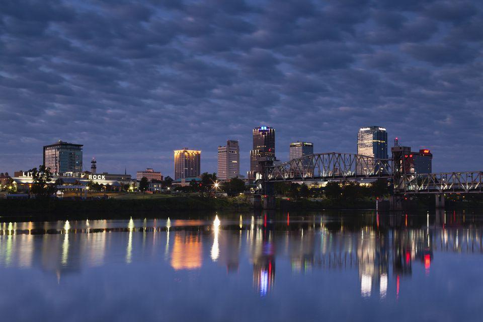 Little Rock, Arkansas, skyline.
