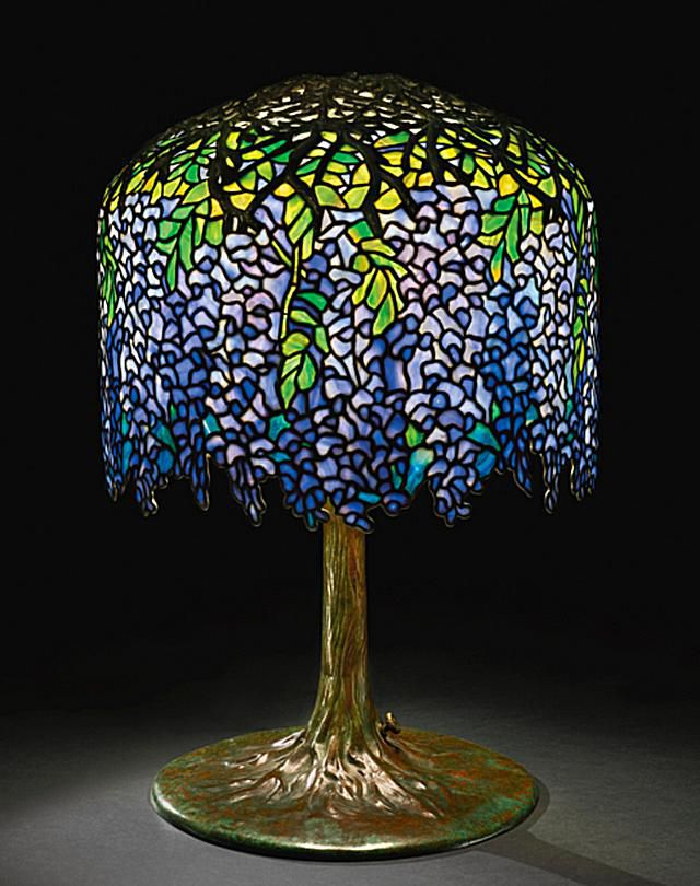 Tiffany leaded glass lamps