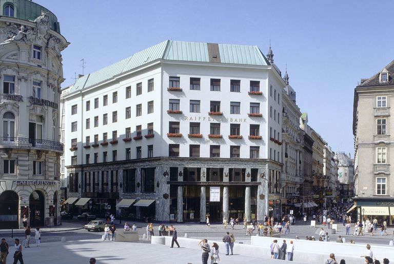 Vienna's Looshaus, also known as the Goldman and Salatsch Building by Adolf Loos
